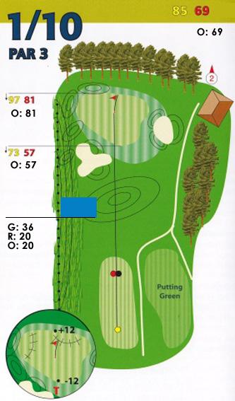 Hole 1 plattegrond