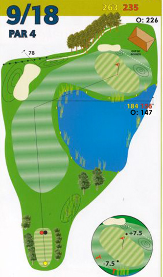 Hole 9 plattegrond